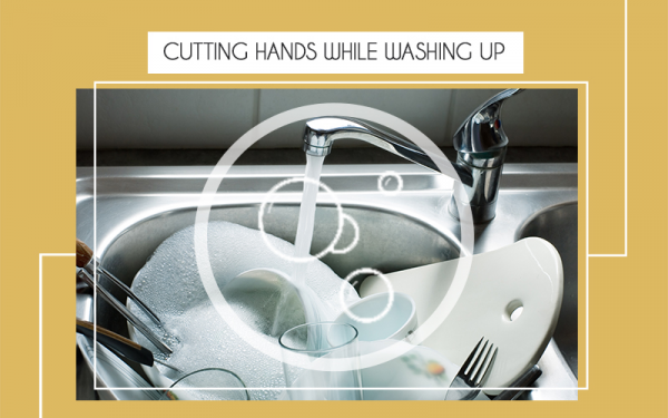 Cutting Hands While Washing Up