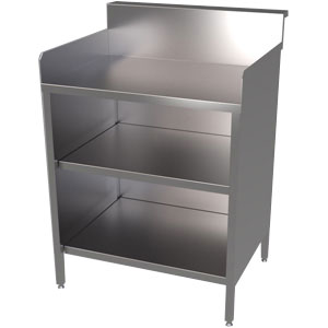 Plain Top Shelf Unit with Rack